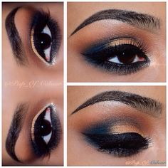 12 Easy Prom Makeup Ideas For Brown Eyes Gurl ❤ liked on Polyvore featuring beauty products, makeup, eye makeup, eyes and beauty