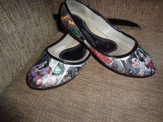 DIY - Sapato com revista Por LariKoze