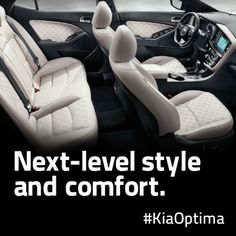 Redesigned seats that make riding and driving more comfortable. The 2014 Kia Optima: http://www.kia.com/us/en/vehicle/optima/2014/experience?story=hello&cid=socog