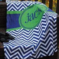 Beach Towel - Chevron with Circle Print