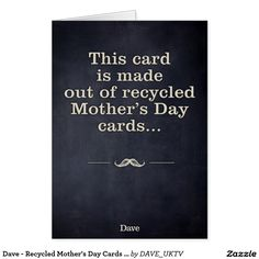 Dave - Recycled Mother's Day Cards - Father's Day