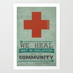 Healing in Community Art Print by The House of Black | Society6