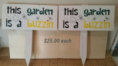 Check out this item in my Etsy shop https://www.etsy.com/listing/292091975/1-handmade-and-painted-garden-sign