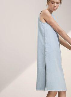 Indigo-dyed denim twill column dress. The Wilfred Free VAN DELDEN DRESS | Aritzia
