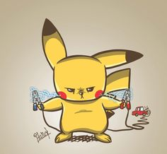 Pikachu charging by Italiux.deviantart.com on @deviantART