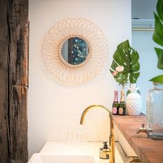Apr 2020 - Dahlia Mirror - - The-Boho-Lab. Fun and stylish decor for your home, that everyone will love! Boho Bathroom, Bathroom Trends, Chic Bathrooms, Amazing Bathrooms, Bohemian Interior Design, Bohemian Decor, Eclectic Mirrors, Country Style Bathrooms, Sun Mirror