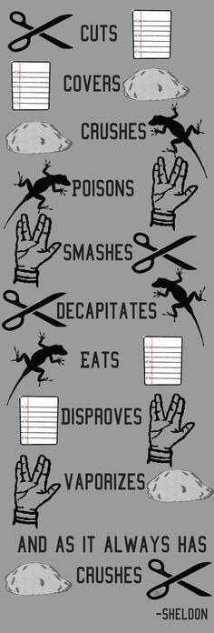 Sheldon's version of rock paper scissors