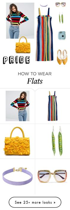 """""""Pride in Style"""" by ilarose2 on Polyvore featuring MARA, Gucci, Fujifilm, Daisy Street, Vanessa Mooney and pride"""