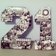 Custom Athlete Photo Collages on 12 inch wooden