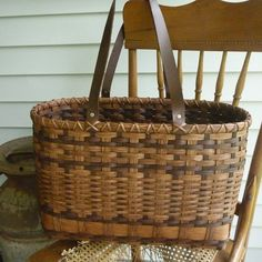 Northwoods Tote Basket by JoannasCollections on Etsy, $86.00   This is a gorgeous large basket! I really like this!