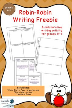 #FreebiesLoveFeedback -- Students take turns contributing to a story, making sure to include the elements of a short story. This activity is perfect for a back-to-school ice-breaker or for a reward day. This is great for English language learners, developing writers, and advanced students. **Freebie includes materials for groups of 4 students** (grades 6-9)