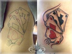 playing card tattoo ideas | Playing Cards Tattoo Designs Photos | Tattoos Pictures Images