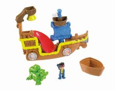 Bring a high-seas pirate adventure to your bath tub or shower with the Splashin' Bucky Bath Toy! Scoop water into the boat-cup and strain it through Bucky's bell shower like a rain storm on choppy se...