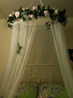DIY- Fit for a Princess: Princess Canopy. Seems easy and not to much $$