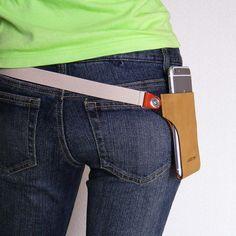 iPhone・スマホを着こなせ!身に着けるiPhone7Plusポーチケース 【waistrap Slipin】 スマートフォンを持ち歩く新しいファッション。おしゃれかわいい腰に巻くベルトポーチ・ホルスター・ポシェットタイプのスタイリッシュなスマホ携帯ケース。iPhone 7Plus 6plus 7 6 5, Xperia Z5 Premium, Gllaxy s7 edge, Zenfone3 対応アクセサリー
