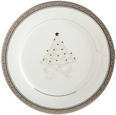 Noritake Crestwood Platinum 9-Inch Holiday Accent Plates, Set of 4