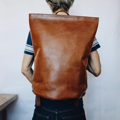 Now available in leather, dark denim, and canvas: the Road Tripper. Bigger than the Harvest, smaller than the Large Duffle. Just right. * * * #leatherbackpack #leatherbag #handmade #ordermade #ethicalfashion #sustainablefashion #madeinamerica #kikany #horweenleather