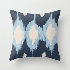 BLUE DROPLETS Throw Pillow by Pattern Paint  - $20.00