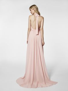 Photo of the pale pink cocktail dress (62033) GRAMOE long sleeveless dress