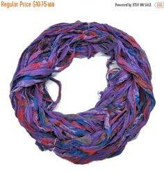 SALE New! Premium Sari Silk Chiffon Printed Ribbon , 100g