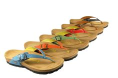 Named after the artistic town of Indio, these colorful, comfortable, and supportive flip flops will surely be a hit. California Footwear Co.  Available Spring 2013.