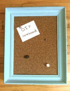 Dorm Room Deco: D.I.Y Cork-board