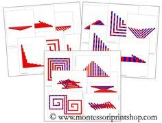 Red Rods & Number Rods Pattern Cards Bundle