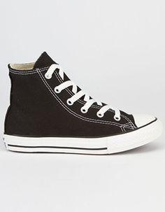 e65fe77c782ea CONVERSE Chuck Taylor All Star Hi Kids Shoes Black Girls Sneakers, Slip On  Sneakers,