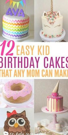 How to make cute kid birthday cakes! I love how easy it is to make cakes at home! It turns out it's easy to decorate a boxed-mix, store-bought, or homemade cake with these clever cake decorating tricks. These are crazy creative birthday cakes for kids. These cakes are perfect for both boys and girls birthday parties! #kidsbirthdaycakes #birthdaycakes #kidsbirthday #ChocolateRaspberryCake