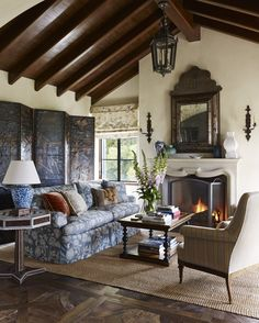 Spanish Colonial Style Home Phoenix Home & Garden Love the candle
