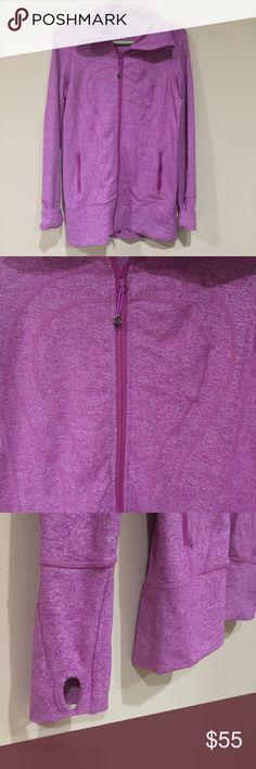 LULU LEMON | Full Zip Jacket w/ Thumbholes Long 'fandango' pink Lulu lemon jacket, gently worn, in perfect condition! lululemon athletica Jackets & Coats