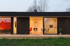 A Retro Modern Prefab: Pavilion 65 by Pavilion Living Photo// Beautiful prefab small living home. I just wonder about the amount of toxic chemicals in the pre-fab materials.