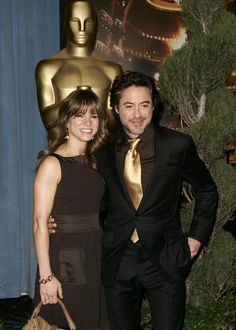 """Robert and Susan Downey at the Oscar nominees' luncheon, 2009.  (He was nominated for """"Tropic Thunder"""")"""