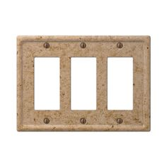 amerelle 8351rrrnc tumbled faux stone noce resin triple rocker gfci wall plate