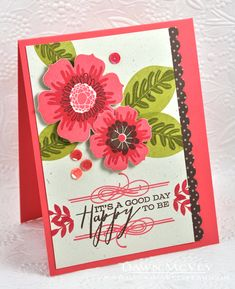 Good Day To Be Happy Card by Dawn McVey for Papertrey Ink (April 2013)