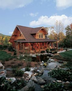 A Log Cabin in North Carolina: Perfect for Outdoor Log Home Living – rustic home interior Log Cabin Living, Log Cabin Homes, Log Cabins, Rustic Cabins, Mountain Cabins, Rustic Homes, North Carolina Cabins, Boho Glam Home, Spanish Revival