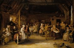 Sir David Wilkie - The Penny Wedding; Sir David Wilkie The Penny Wedding Signed and dated 1818 Oil on panel Art Pop, David Wilkie, Scottish Wedding Traditions, The Duchess Of Devonshire, Royal Collection Trust, Free Art Prints, Old Paintings, Romanticism Paintings, Oil Painting Reproductions