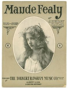 Maude Fealy, march, sheet music