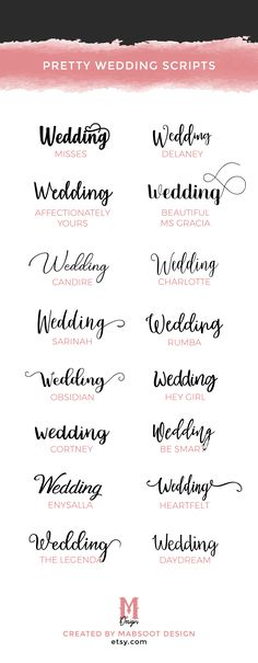 29 Best Fonts For Wedding Invitations Images