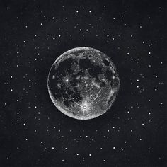 Silver Moon Print // Lunar Print // Moon Poster // Moon Art // Moon Illustration // Sacred Geometry // Black and White Drawing // Stippling // Dot Drawing // Universe // Cosmos Black Paper Drawing, Black And White Drawing, White Art, Constellations, Dotted Drawings, Moon Drawing, Luna Moon, Moon Illustration, Luna Tattoo