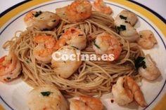 Receta Camarones con espagueti: http://camarones-con-espagueti.recetascomidas.com/