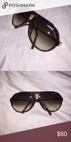Tortoise Brown Carrera Aviator Sunglasses Tortoise brown Carrera aviator sunglasses. No scratches, great condition. Does not come with case. Carrera Accessories Sunglasses