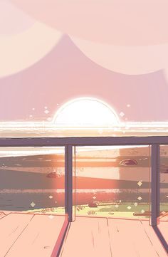 Another beautiful and fantastic back round of Steven Universe, which gives us a beautiful view from Steven's porch