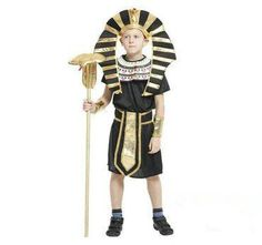 Brcus Boys Kids Egyptian Pharaoh Halloween Cosplay Costume Robe Role Play  Dress up Medium   Take a look at this fantastic item. (This is an affiliate  link). 10a62c0de