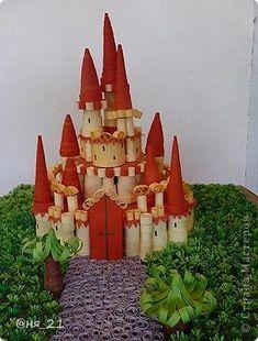 Скульптура Квиллинг: Сказочный замок Бумага. Фото 3