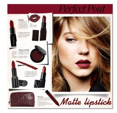 """Matte lipstick"" by bogira ❤ liked on Polyvore featuring beauty, Smashbox, Laura Mercier, Chanel, Bobbi Brown Cosmetics, NYX, NARS Cosmetics, Giorgio Armani and Gucci"