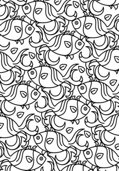 Fish Pattern Coloring page