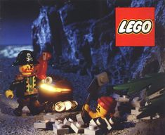 """In 1989 Lego introduced its """"Pirates"""" theme. This was the first theme in which the minifigures featured more complex facial patterns instead of the simplistic smiling faces used beforehand. Lego Memes, Amazing Lego Creations, Lego System, Hero Factory, Lego Bionicle, Pirate Theme, Lego Moc, Smile Face, Pirates"""