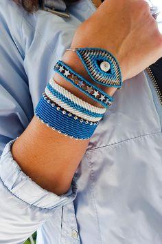 Arm Candy Bracelets, Summer Bracelets, Macrame Jewelry, Macrame Bracelets, Bracelet Patterns, Beading Patterns, Kristina Krayt, Diy Fashion Projects, Micro Macramé