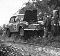 The Flying Finn Timo Mäkinen @ Ouninpohja stage the 1000 Lakes Rally 1967 Mini Cooper Classic, Mini Cooper S, Classic Mini, Peugeot, Vintage Cars, Antique Cars, Vintage Racing, Rallye Automobile, Wheel In The Sky
